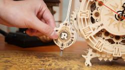 puzzle 3d din lemn ceas bufnita cu pendul
