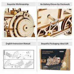 puzzle 3d din lemn locomotiva 6