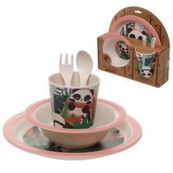 Set de masa pentru copii Bambus Panda 1
