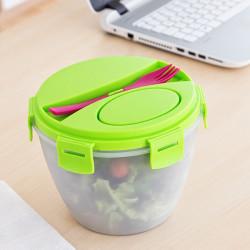 Bol pentru salata cu recipient pentru dressing 2