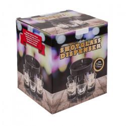 Dispenser pentru shoturi cu 6 pahare din sticla in cutie