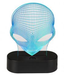Lampa 3D Alien bleu