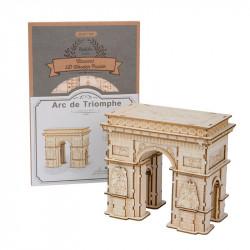 Puzzle 3D din lemn Arcul de Triumf si cutia
