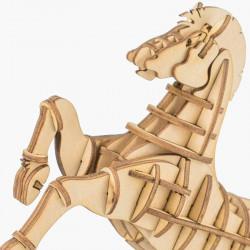 Puzzle 3D din lemn Cal detaliu