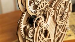 puzzle 3d din lemn mecanism ceas bufnita