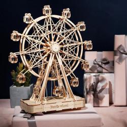 Puzzle 3D din lemn cutie muzicala Ferris Wheel cu cadouri