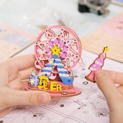 asamblare Puzzle 3D din lemn cutie muzicala For my Dear