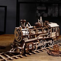 puzzle 3d din lemn locomotiva 4