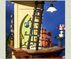 Puzzle 3D lemn Casuta din cupola detaliu 2