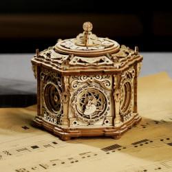 Puzzle 3D lemn Cutie muzicala Gradina secreta 3