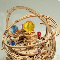 Puzzle 3D lemn Cutie muzicala Sistemul solar stary night detaliu
