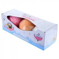 Set cadou 3 bile efervescente pentru baie XXL Fruity in cutie