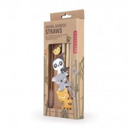 Set paie vesele din bambus in cutie 1