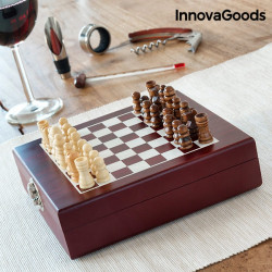 set sah din lemn si accesorii pentru vin 4
