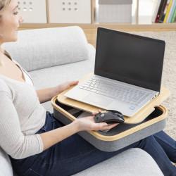 Suport pentru laptop cu spatiu de depozitare