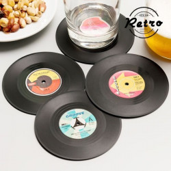 Suporturi pentru pahar Disc Retro (set de 4)