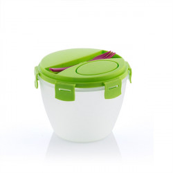 Bol pentru salata cu recipient pentru dressing 3