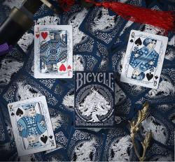 carti de joc bicycle dragon albastru 2