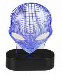 Lampa 3D Alien albastru