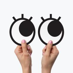 Ochi magnetici cu gene pentru frigider Googly Eyes Lashes 2