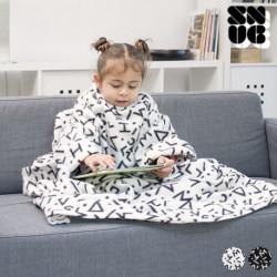 Patura cu maneci pentru copii - Alb