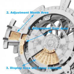 puzzle 3d din lemn calendar perpetuu 3