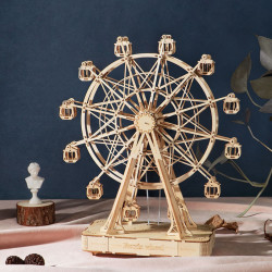 Puzzle 3D din lemn cutie muzicala Ferris Wheel 2