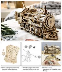 puzzle 3d din lemn locomotiva 7