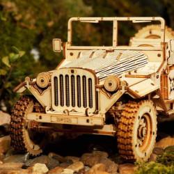 puzzle 3d din lemn masina militara 2