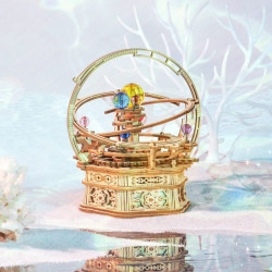 Puzzle 3D lemn Cutie muzicala Sistemul solar stary night artistic