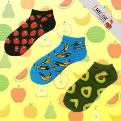 "Set 3 perechi sosete colorate barbati ""Fruit Power"""