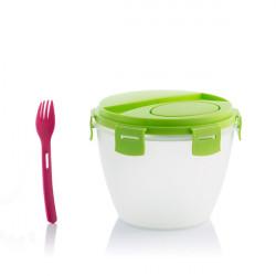 Bol pentru salata cu recipient pentru dressing 5