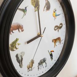 ceas de perete cu sunete de animale