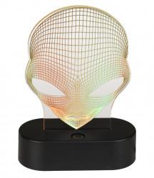 Lampa 3D Alien galben