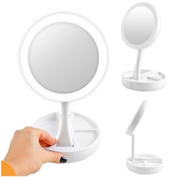 Oglinda dubla cu LED