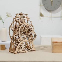 puzzle 3d din lemn ceas cu pendul