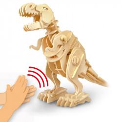 puzzle 3d din lemn dinozaur t-rex controlat prin sunet 2