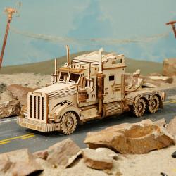 Puzzle 3D lemn Camion pe drum