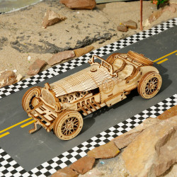 Puzzle 3D lemn Masina grand prix