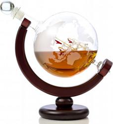 Glob pamantesc decantor whiskey cu corabie 1
