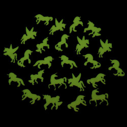 Stickere luminoase unicorn verde