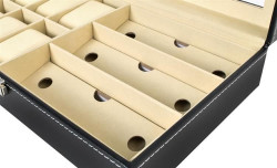 detaliu cutie ceasuri si ochelari