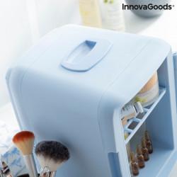 Mini frigider pentru cosmetice bleu cu maner