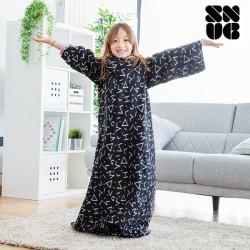 patura neagra cu maneci pentru copii 2