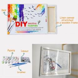 set pictura pe numere in cutie colorata