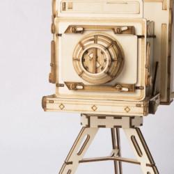 Puzzle 3D din lemn Vintage Camera detaliu