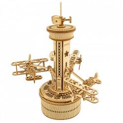 Puzzle 3D lemn Cutie muzicala Turn de control