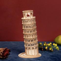 Puzzle 3D lemn Turnul din Pisa 1