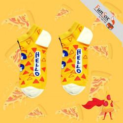 sosete colorate galbene femei hello pizza