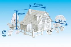 Set constructie si colorat Catelus la ferma dimensiuni